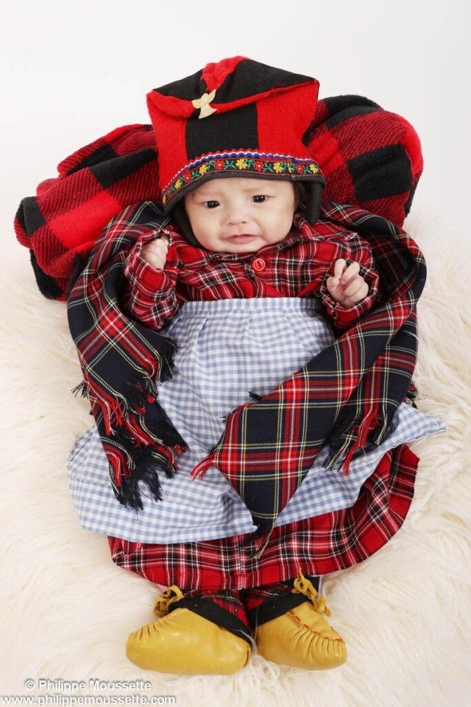 Bébé déguisé en dindon