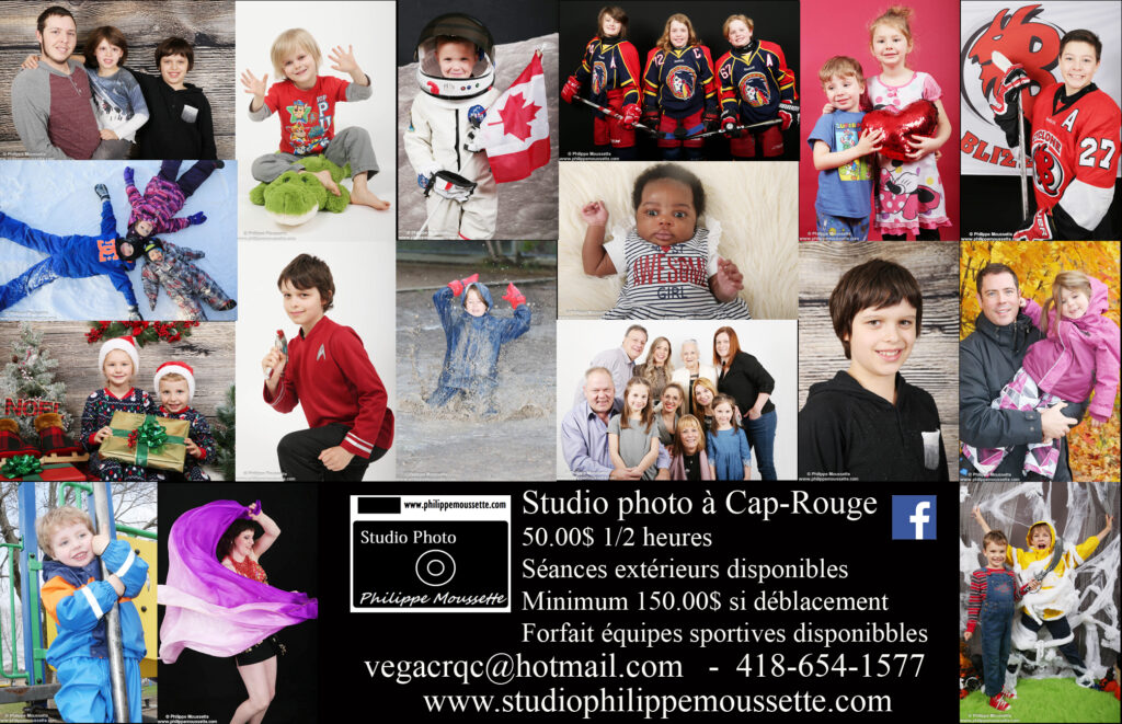 Promotion pour les photos en studio